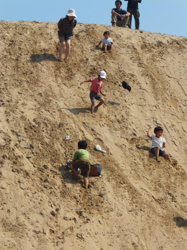 鳥取砂丘を滑り降りる!
